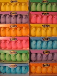 colorful peeps